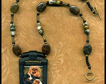 Cavalier King Charles Spaniel beaded necklace