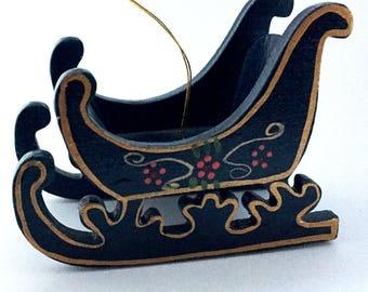 Vintage Sleigh Christmas Ornament
