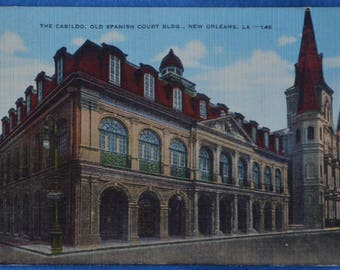 Cabildo Old Spanish Court Building New Orleans LA Louisiana Linen Postcard Unused