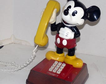 Mickey Mouse Telephone - Push Button - 1980's - American Communications