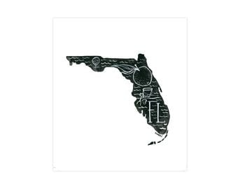 Florida State Print // 1canoe2 // Modern Art Print