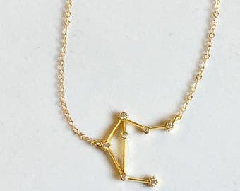 TINY Constellation Necklace, Zodiac Jewelry, Dainty Necklace, Silver or Gold Necklace, Zodiac Necklace, Gift Under 25, The Silver Wren