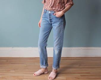 levi 501 jeans | distressed levis boyfriend jeans | 29 W