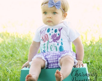 NEW Just Add Water Glitter Top and Ruffle Bloomies Set, Toddler Clothes, Baby Girl Onesie Outfits, Summer, Beach, Ocean, Mermaid Outfit