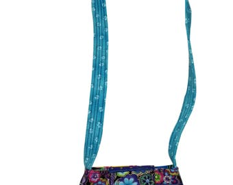 Small Purse in Laurel Burch Dog Fabrics with Adjustable Straps