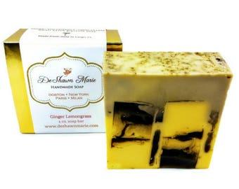 SOAP Ginger Lemongrass Soap, Handmade Soap. Vegan Soap, Soap Gift, Christmas Gift, Soap Favors, Christmas Soap, Wedding Favors, Natural Soap