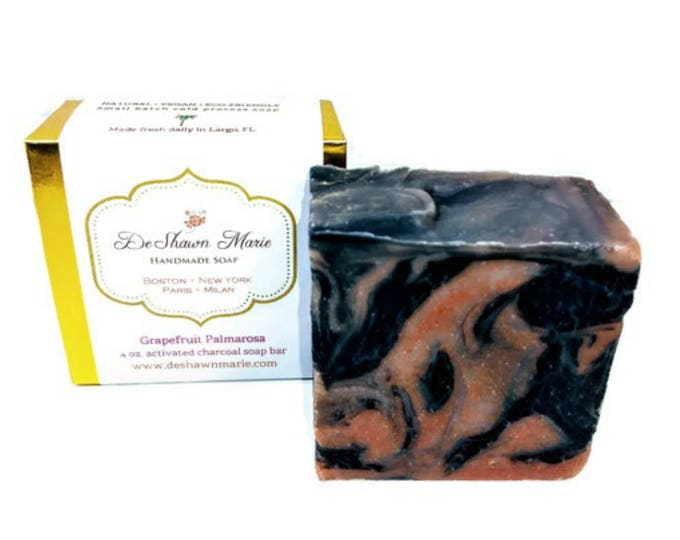 Grapefruit Palmarosa Activated Charcoal Soap