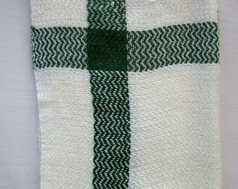 Forrest Green and White Tea-towel