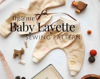 Doll Clothing | Baby Layette | Waldorf Doll Clothes | Sewing Pattern | Kimono Jacket | Harem Pants | Doll Dress | Doll Bonnet | Bloomers
