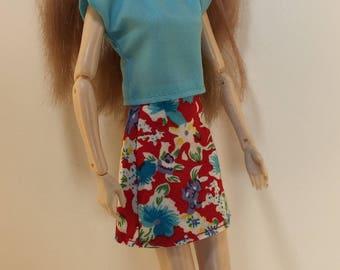 Handmade Pullip Blythe Momoko Skipper Moxie Dal type dolls Top Skirt P D Reneau Design (Q808)