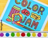 Color is My Jam (11x14 Art Print)