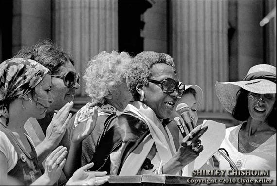 SHIRLEY CHISHOLM SPEECH, New York,  Clyde Keller 1976 Photo, Signed