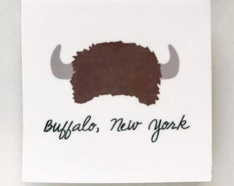 Buffalo, NY hat magnet, buffalo magnet, buffalo ny art, buffalo gift, buffalo hat, gifts under 10, magnet, buffalo ny