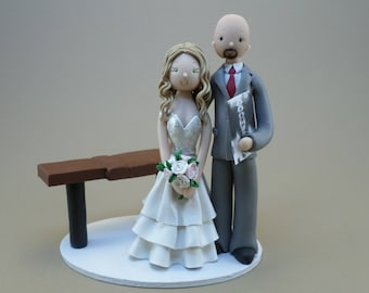Bride & Groom Chiropractors Custom Made Wedding Cake Topper