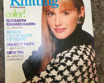 Vogue Knitting International Fall Winter 1988