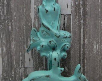 Mermaid Dolphin Cast Iron Door Knocker Shabby Chic Cottage Chic Home Decor