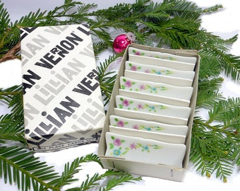 Vintage Porcelain Place Cards, Reusable 6 Lillian Vernon, Party Supplies, Black Friday, Name Table Numbers, Hostess Gift