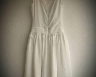 Custom Made Silk Wedding Dress