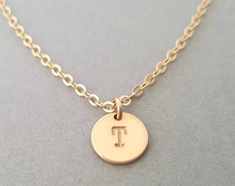 Gold Initial Necklace Gold Choker Chain personalised jewelry gifts for women - best friend wife girlfriend sister