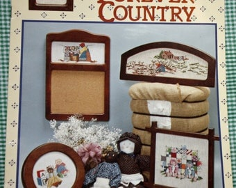 Vintage 1980s Cross Stitch Booklet, BKW071, 8 Designs, Pickin Cotton and More