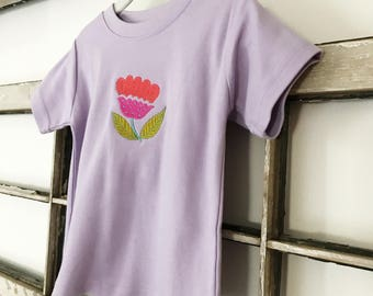 Sloane Floral Tee  // Baby Girl Tee  // Embroidered Toddler Top // Baby Gift // Modern Girl's Clothing // Boho Baby