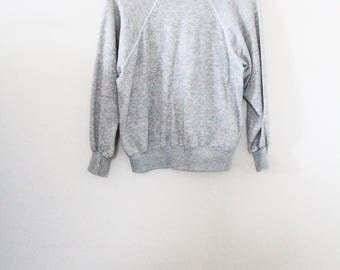 80's Basic Heather Grey Sweatshirt