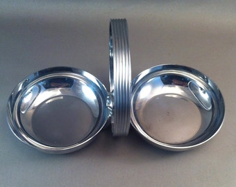 Chase Chrome Handled Nut Bowl, Vintage Chase Chrome, Art Deco by Chase, Chase Collectibles, Chrome Bowls, Deco Chrome Decor, Vintage Chrome