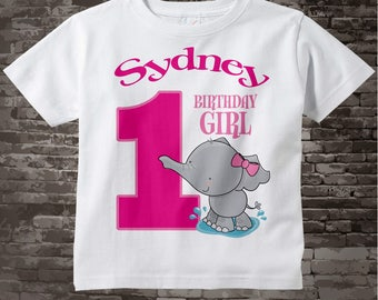 Personalized FIrst Birthday Elephant Tee Shirt or Onesie, 1st Birthday Elephant tee, Safari Theme, Any Age 03182012i