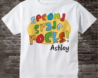 Second Grade Rocks Shirt, Personalized 2nd Grade Shirt, Second Grade Rocks Shirt Child's Back To School - Second Grade Teacher 07302012b