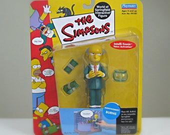 Simpsons Mr. Burns Action Figure, Vintage Simpsons Kids Toy, The Simpsons TV Series, Springfield, Montgomery Burns, Simpsons Christmas Gift