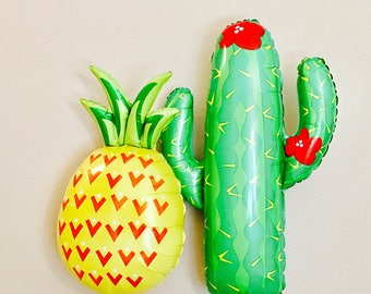 Cactus Balloon, Fiesta balloons, Pineapple balloons, Taco Bout a party, Cactus Decoration, Cactus, Taco Bar, Taco Party, Taco Bout Love