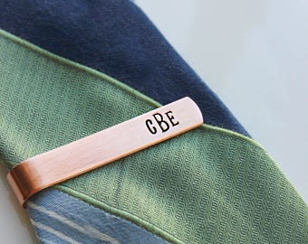 Personalized Gift for Him, Copper Tie Bar, Copper Tie Clip, Custom Guy gift, Wedding Groom Groomsman Father of the Bride, Tie Bar