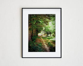A ROAD LESS TRAVELED | instant download, printable wall art, nature, landscape, quote art, photography, summer, rural, explore, inspiration