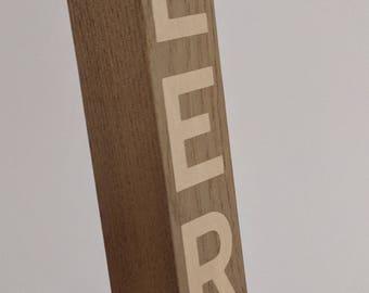 Hardwood Beer Tap Handle With Inlay