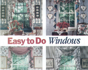 Swags & Jabots Sewing Pattern Butterick 5480 UNCUT, Window Treatment Accents, Toppers, Bows, Rosettes, Home Cottage Decor