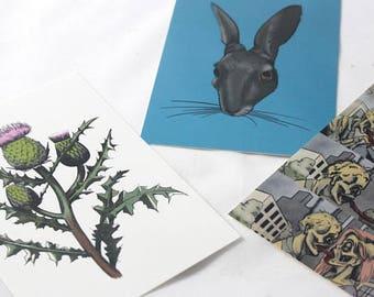 Postcards - Pick 3 - Snail Mail Fun - Pop Culture Cards - Funny Cards - Dear Mom