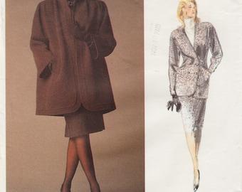 Vogue Paris Original 1950 / Vintage Designer Sewing Pattern By Nina Ricci / Coat Jacket Skirt / Size 14 Bust 36