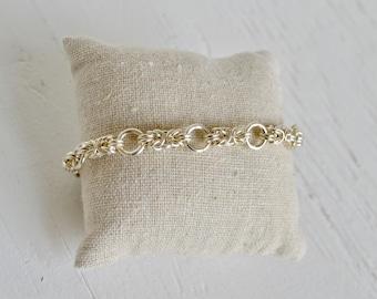 Sterling Silver Byzantine Link Bracelet : By BALOOS STUDIO