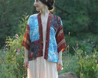 Kimono / Gypsy / Jacket / Boho / Bohemian / Short Kimono / Kimono Cardigan / Cover Up