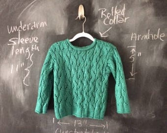 Child's Teal Pullover