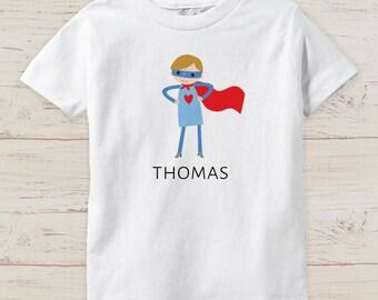 Customizable SUPER HERO funny baby boy toddler shirts bodysuit name onesie