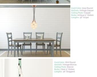 Modern Dining Chandelier 7 Light Cluster Pendant Modern Dining Room Lighting  Dine Table Light Chrome Globe
