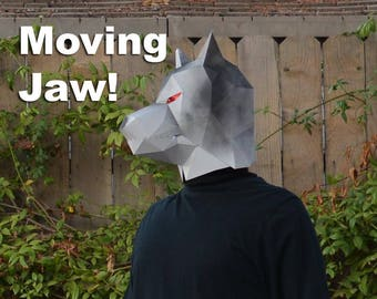 Make Your Own Paper Wolf Mask with Moving Jaw! - Halloween Mask | DIY Paper Mask | DIY Mask | Werewolf Mask | Animal Mask