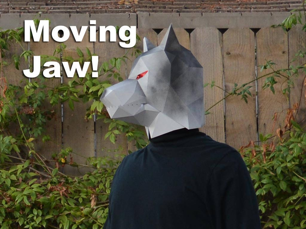 Make Your Own Paper Wolf Mask with Moving Jaw! - Halloween Mask ...