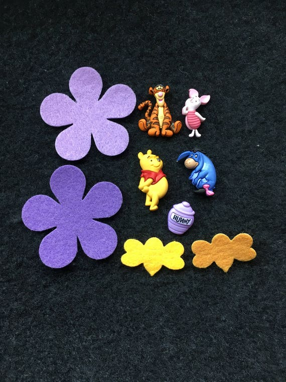Winnie Pooh Buttons 100 Acre Wood Friends Embellishments