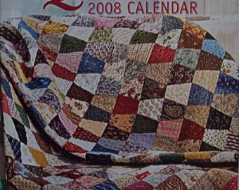 American Patchwork and Quilting-2008 Calendar Insert-used quilt patterns-