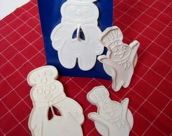 Pillsbury Doughboy 4 Cookie Cutters White Poppin Fresh Dough Boy Advertising Character