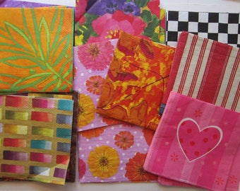 65 paper napkins for decoupage - Isabelle de Brochgrave florals, and more