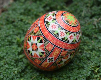 Christmas duck egg pysanka gift and ornament mum would love send her this beautiful gift hand-painted Ukrainian egg