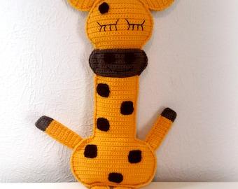 Sleepy Ragdoll Giraffe, Giraffe Stuffed Animal Plushie, Safari Animal, Giraffe Pillow